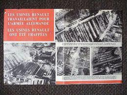 WWII WW2 Propaganda Leaflet Les Usines Renault Travaillaient Pour L'armee... F26 - Oude Documenten