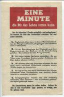 WWII WW2 Propaganda Original Leaflet Flugblatt ZG115 Eine Minute Die Dir Das... - Vieux Papiers