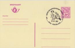 BELGIË/BELGIQUE:Illustr. Date Cancel On Post. St.:  ## 31-01-87 : ROESELARE : Wereldkampioenschap Vogels C.O.M. ## - Passereaux