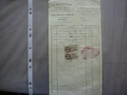 GUISE GEORGES PRAT LA MAISON DES SPORTS 49 RUE CAMILLE DESMOULINS FACTURE DU 3 JANVIER 1933 - France