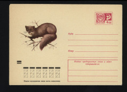 USSR 1973 Postal Cover Fauna European Pine Marten (097) - Autres