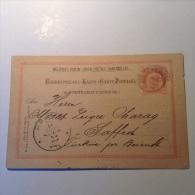 Turkey Turquie HOLYLAND PALESTINE SAFED 1895 RARE BLUE ! Arrival Austria Postal Card (cover Israel Lettre Judaica) - 1858-1921 Empire Ottoman