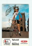 Giuseppe PETITO , Autographe Manuscrit, Dédicace . 2 Scans. Cyclisme. Alfa Lum - Ciclismo