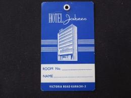 HOTEL MOTEL PENSION INN REST HOUSE JABEES VICTORIA KARACHI PAKISTAN STICKER DECAL LUGGAGE LABEL ETIQUETTE AUFKLEBER - Hotel Labels