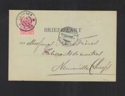 Niederlande PK 1899 Zutphen In Die Schweiz - Briefe U. Dokumente
