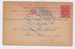 Jamaica/USA AGRICULTURE FOOD ALMONDS POSTAL CARD 1921 - Agriculture