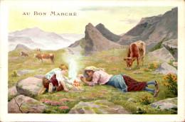 Chromo Au Bon Marché - Scène Rustique - Au Bon Marché