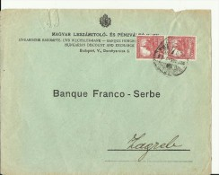 BRIEF  --  UNGARISCHE ESCOMPTE UND WECHSLER - BANK - Ungarn
