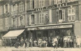 RARE TROUVILLE SUR MER MAISON VICTOR LAUMAILLET 18 QUAI JOINVILLE CAFE DE LA GARE - Trouville