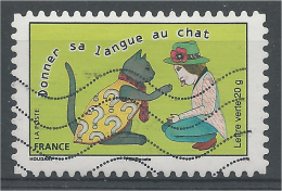 "France, Proverb, ""donner Sa Langue Au Chat"", 2015, VFU - France"