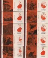 Joli Lot De 16 Pochettes Vides -  SEITA -  150ème Anniversaire De La Naissance JULES VERNE 1828 - 1978 - - Boites D'allumettes - Etiquettes