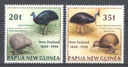 Papua New Guinea - 1990 New Zealand Birds MNH__(TH-12104) - Papua New Guinea