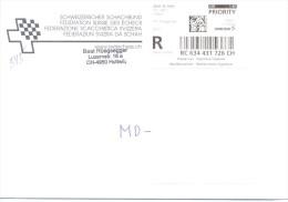2014.Switzerland,  The Letter By Registered Prioritairy Post To Moldova - Switzerland