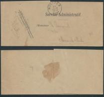 ZD716 Enveloppe De Montzen Service Administratif Pour Le Bourgemestre 1897 - Other