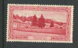 "Sanatarium Havre Poster Stamp Vignette Label No Gum 1 7/8 X 1"" - Cinderellas"