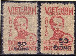 Vietnam - Nord 1956 Mi# 53* Je Grosser Und Kleiner Aufdruck * - Viêt-Nam