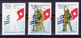 Uruguay 3 Druckphasen Ungezähnt Uruguay 1510NS 700J. Schweiz - Uruguay