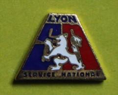 Pin´s - Gendarmerie - Lyon - Service National - Militari