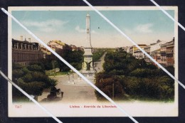 LISBOA Resttauradores Square Liberdade Avenue View Statuary 1900-20's Mint Postcard Portugal 5730 - Lisboa