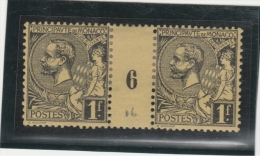 Monaco _ 1F Millésimes  - Prince Albert 1er Surchargé N° 20 (1906 ) - Monaco