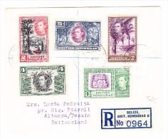 British Honduras  Belize ?0.8.1939 R-Brief Nach Altanca Schweiz - Honduras Britannique (...-1970)