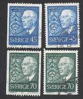 Schweden, 1967, Michel-Nr. 594-595 C+D, Gestempelt - Sweden