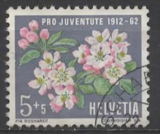 SWITZERLAND 1962 Children's Fund. 50th Anniv Of Pro Juventute Foundation - 5c.+5c Apple Blossom  FU - Pro Juventute