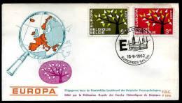 17100) Belgien - Michel 1282 / 1283 - FDC - CEPT 62 - FDC