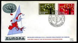 17094) Belgien - Michel 1282 / 1283 - FDC - CEPT 62 - FDC