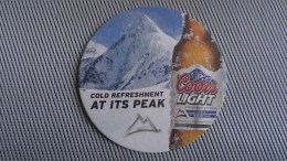 Coors Light Beer Mat / Bierdeckel - USA!!! Brought From Curacao - Sous-bocks