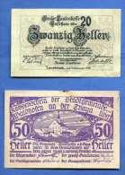 2 Gutscheine (20 Heller Tiroler Landeskasse + 50 Heller Waidhofen An Der Thaya) - Autriche