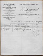 37 BOURGUEIL - Facture CHAPELLERIE G. LEGOURD - Chapeaux De Soie & De Paille Casquettes - Textilos & Vestidos