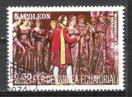 R.P Guinée Equatoriale : An 1974 Timbre Oblitéré - Napoléon (  Mariage Avec Marie-Louise 1810   ). - Napoleon