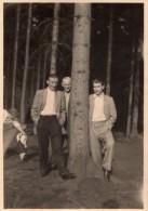 Photo Originale Homme -  3 Hommes Et Un Arbre - Portrait En Forêt - - Personnes Anonymes
