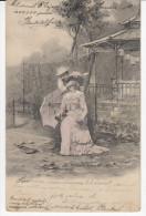 Couple Old Vintage Postcard Travelled 1903 Arad To Balincz (Romania) Bb160215 - Couples
