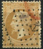 """N° 021° Y Et T, 21, Oblitération """"Ancre"""" - 1862 Napoleon III"""