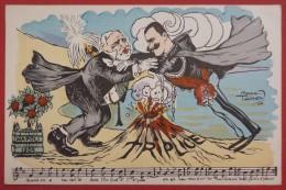 LES RENGAINES POLITIQUES - Illustré Par Raoul THOMEN - VI. S.E. Loubet En Italie - Satira