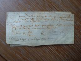 VELIN DATE DU 26 MAI 1596 - Manoscritti