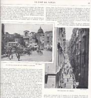 Naples Napoli Marché Mercato Chiaia Marchand Catacombe Catacomba Page Recto Verso Extraite Livre Italie Illustrée - Fotografia