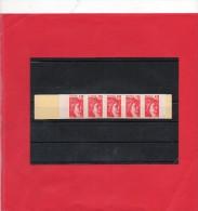 Carnet De 5 Valeurs Sabine N° 1974c1A 1,20F Rouge  Gomme Mate - Carnets