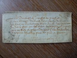 VELIN DATE DE 1629 - Manoscritti
