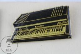 Piano Rhodes  Advertising Pin Badge  #PLS - Música