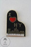 I Love NY New York Piano Enamel Pin Badge  #PLS - Música