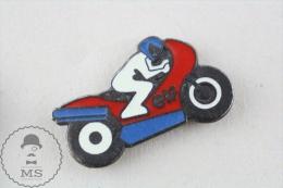 ELF Motorcicle Racing Oil Advertising Pin Badge  #PLS - Transportes