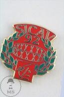 SICAV 92 Bank Savings Advertising Pin Badge  #PLS - Bancos