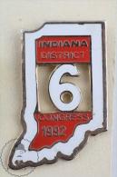 Indiana District 6th Congress 1992 Pin Badge  #PLS - Pin