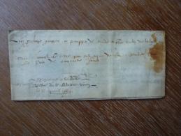 VELIN DATE DE 1664 - Manoscritti