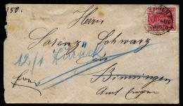 A3694) DR Brief 1902 Nach Binningen Unzustellbar Mit Vignette Retourverschluss Konstanz - Deutschland