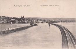 Cp , 62 , BOULOGNE-sur-MER , Vue Générale Prise De LaJetée - Boulogne Sur Mer