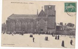 MONCOUTANT  -  L'Eglise - Sortie De Messe. - Moncoutant